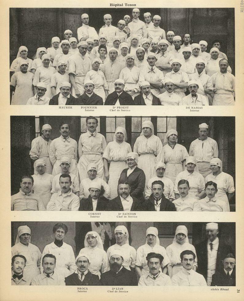 [1] Hôpital Tenon, Maurer / Fournier, interne / Dr Proust, chef de service  De nabias, interne / [2] [...] - Médecins - medextcuki0001x0046
