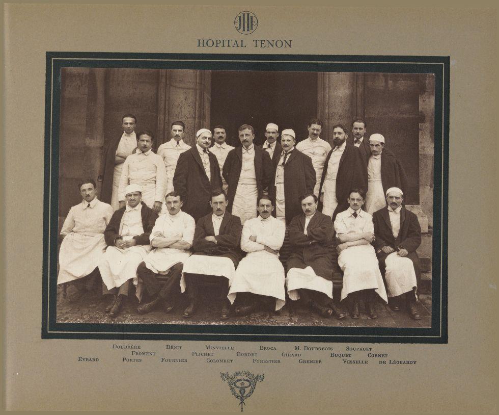 Hôpital Tenon. Doubrère / Bénit / Minvielle / Broca / M. Bourgeois / Soupault / Froment / Plichet /  [...] -  - medinternat10x0012