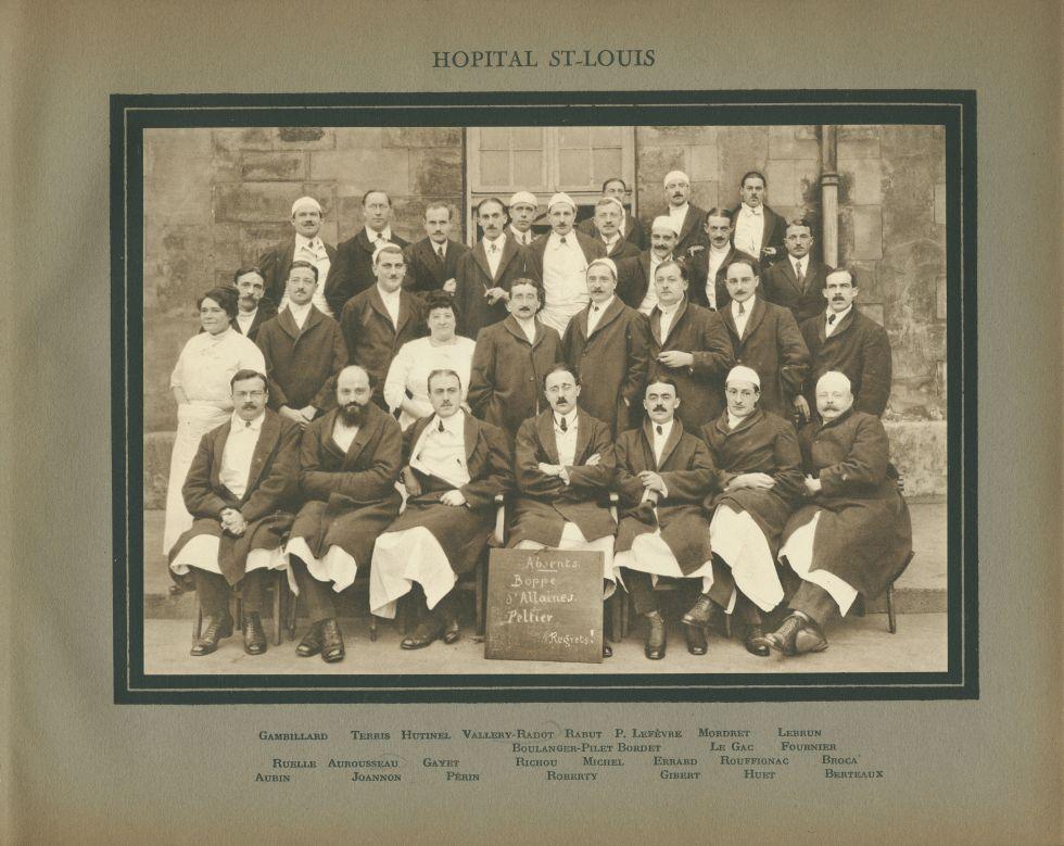 Hôpital Saint-Louis. - Gambillard / Terris / Hutinel / Vallery-Radot / Rabut / P. Lefèvre / Mordret  [...] -  - medinternat18x0010
