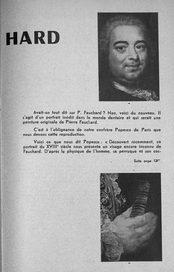 Pierre Fauchard - Revue d'histoire de l'art dentaire -  - medpf114x1962x01x0025