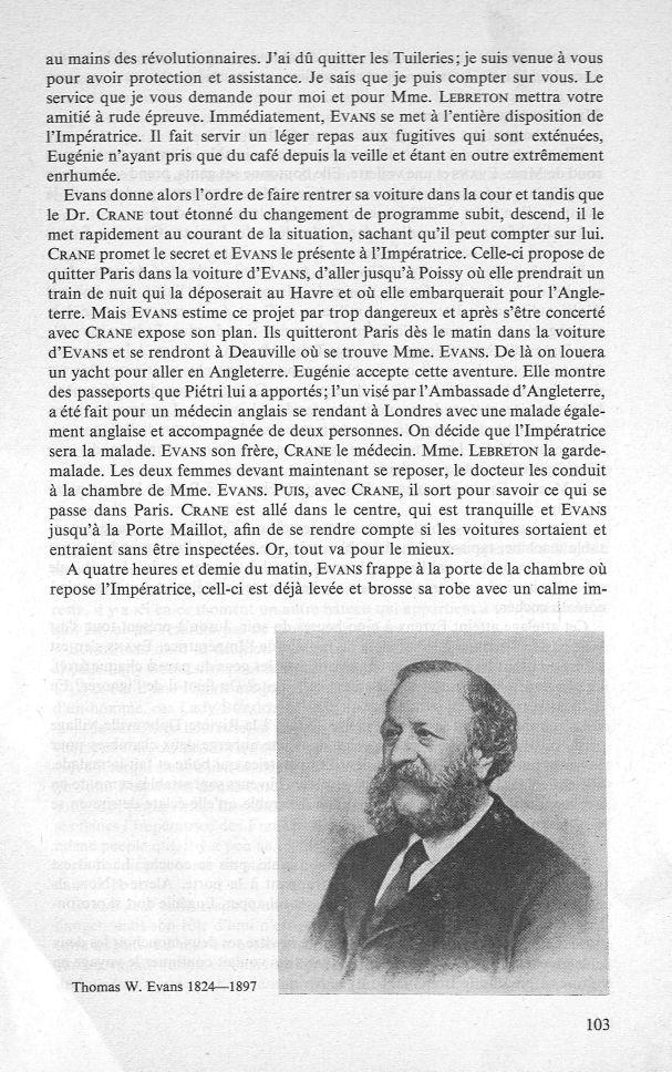 Thomas W. Evans - Revue d'histoire de l'art dentaire -  - medpf114x1965x07x0009