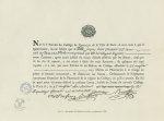 Fig. 2 : Fac-simile d'un diplôme de maître en pharmacie (1795) - Centenaire de l'École supérieure de [...]