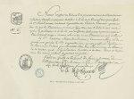 Fig. 3 : Fac-simile du Visa du Diplôme ci-contre - Centenaire de l'École supérieure de pharmacie de  [...]
