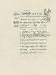 Fig. 5 : Fac-simile d'un Certificat de prestation de serment (1808) - 1ère partie - Centenaire de l' [...]