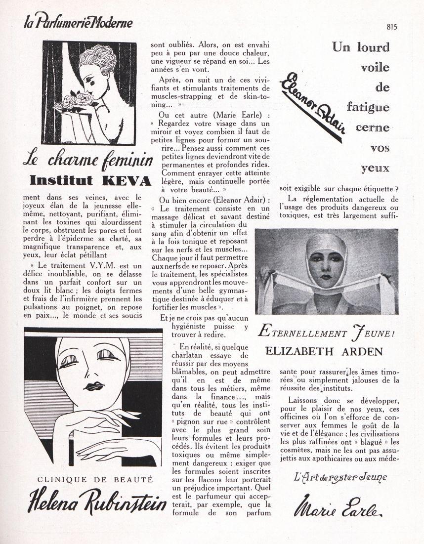 [Réclame : Le charme féminin, Institut Keva / Clinique de beauté Helena Rubinstein / Eternellement J [...] -  - medpharma_p15270x1930x23x24x0918