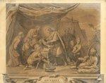 Le Roi Saint-Louis pansant un blessé - [Thèse à image de chirurgie : le Roi Saint-Louis pansant un b [...]