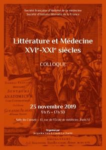 2019 - Affiche-Colloque-Littérature-et-Médecine-23-novembre-2019-1